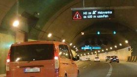 Strahovský tunel byl ve směru na Smíchov zavřený: Nešly v něm kamery