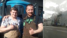Bronislav zachránil z hořícího domu dvě ženy: Skromný hrdina přispěchal s avií