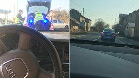 Řidič fotil policisty a pak to zveřejnil: Zadělal si tím na nečekaný problém