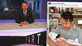 Moderátor Hauptvogel je podruhé tátou: Pětikilového syna rodila manželka doma