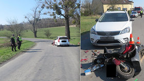 Dramatický boj o život: Opilého motorkáře po nehodě zachraňoval policista v civilu