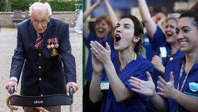 Válečný hrdina (99) vybral pro zdravotníky 370 milionů korun. Tím, že chodí po zahradě