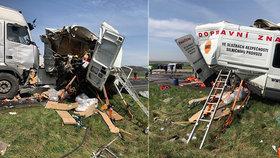 Tři mrtví po nehodě u Bíliny: Kamion smetl dělníky pracující na silnici
