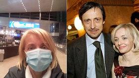 Žilková opustila manžela a vrátila se do Česka! Hodiny cestování navíc s rouškami