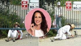 Herečka Andie MacDowellová porušila vládní nařízení a skončila na zemi!
