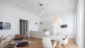 Tohle nemá chybu! Rekonstrukce vrátila lesk klasickému apartmánu ve Vídni