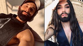 HIV pozitivní Conchita Wurst: Nové foto rozhodilo fanoušky! To je ale fešný chlap