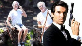 """Tenhle """"stařík"""" je agent 007? Šedivý Brosnan potvrdil návrat do bondovek!"""