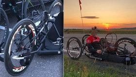 Hendikepovanému sportovci ukradli stroj za 70 tisíc! Policie žádá veřejnost o pomoc