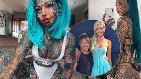 Tetované oči a jazyk jako had: Extravagantní modelka zveřejnila fotku z času před proměnou