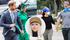 Módní policie Iny T.: Harry a Meghan v nových rolích i šatech. V L. A. roznáší jídlo, ona šik, princ jak šmudla