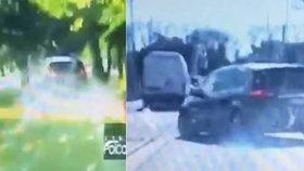 Výživný pátek v Bratislavě: Honička ve stylu Rychle a zběsile i řidič zadržený s drogou v ruce!