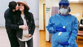 Těhotná zdravotní sestra musí dál chodit do práce: Stará se o pacienty s koronavirem