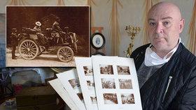 Unikátní objev v Kuníně: Fotky 120 let staré Tatrovky, kterou šlechtic koupil za sedm tisíc