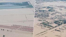 Záběry jak z katastrofického filmu: Lijáky a vichr protrhly přehradu, 70 tisíc evakuovaných