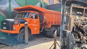 Kus nostalgie lehl popelem. V Dobříči západně od Prahy vyhořelo muzeum nákladní techniky