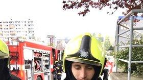 Ve Stodůlkách vyhořela optika. Kromě vybavení za miliony hasiči zachraňovali i želvu