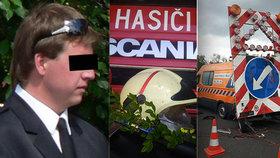 Hasiče Martina na dálnici smetl kamion: Obec pro děti a partnerku vyhlásila sbírku