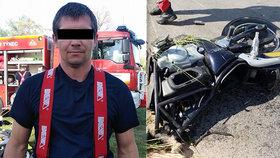Hasič Patrik nepřežil na Chrudimsku srážku s autem: Zůstala po něm žena a dvě dcery!