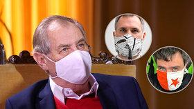 """Ricin je projímadlo, tvrdí Zeman. U Hřiba a Novotného zmínil """"bezvýznamné politiky"""""""