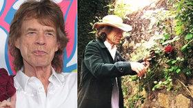 Rocker zahradníkem? Zámecký pán Mick Jagger dře v karanténě!