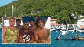 Dovolená snů se změnila v horor: Rodina uvázla na lodi v Karibiku, na pevninu ji nepustí