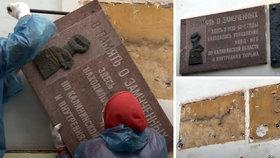 Rusové sundali pamětní ceduli připomínající masakr v Katyni. Prý byla na budově omylem