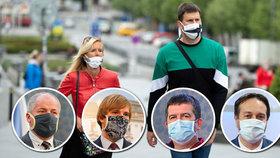 Chaos kolem sundání roušek v Česku: Vojtěch mluví o květnu, Prymula o červnu