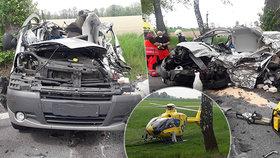 Tragická nehoda na Pardubicku: Řidič dodávky zemřel po srážce s kamionem