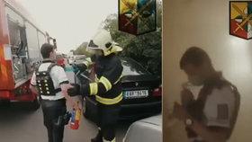 Dramatický zásah kladenských policistů: Požár uhasili ještě před příjezdem hasičů!