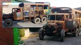 Při požáru shořely tatrovky za miliony: Majitele muzea dojala nebývalá vlna solidarity