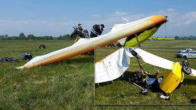 U Olomouce havarovalo rogalo: Pilotka se zranila