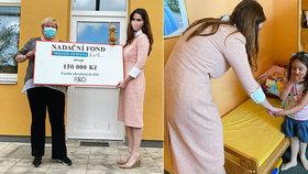 Zemanova Kate sladila šaty s rouškou a předala šek Klokánkům. Inspirovala se u Čaputové?