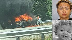 Krkavčí matka se pokusila upálit svého syna (13 měs.) v autě. Dítě bojuje o život v nemocnici