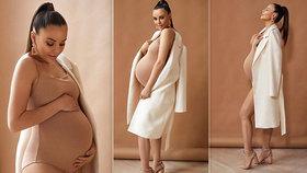 Ona je snad nahá?! Poslední fotky před porodem berou dech! Monika Bagárová vypadá fantasticky