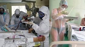 Sexy sestřička se starala o nakažené pacienty ve spodním prádle: Nemocnice jí napařila pokutu!