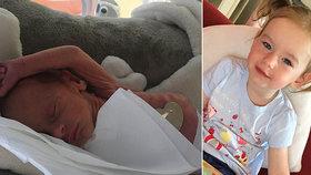 """""""Kostřička potažená kůží."""" Eliška (2) se narodila s váhou 1170 gramů!  Kvůli preeklampsii na svět přišla předčasně"""