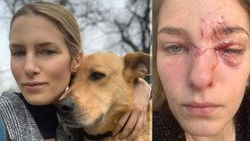 Modelku L'Orealu Alexandru pokousal pes, kterého zachránila z útulku: Stačilo málo a přišla o oko!