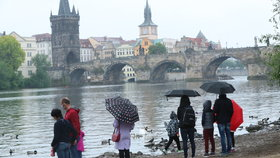 Počasí v Praze poslední květnový týden: Teploty kolem dvaceti stupňů, občas zaprší