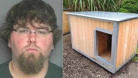 Muž nutil batole spát v boudě pro psa a házel s ním o dveře: Soud mu vše prominul!