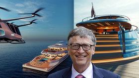 Bill Gates koupil luxusní jachtu za 16 miliard! Kolos o pěti palubách pohání dusík