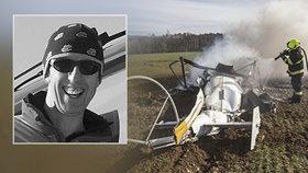 Smrt v plamenech: Michal s žákem havarovali ve vrtulníku kvůli zbrklosti a přehnané důvěře