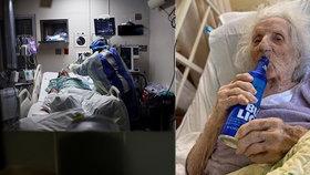 """""""Kurážná babička"""" (103) porazila koronavirus. Uzdravení oslavila milovaným pivem"""