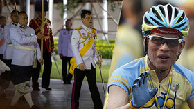 """Thajský král s konkubínou a bodyguardkami opustil """"palác rozkoše"""". A vyjel si na kole"""