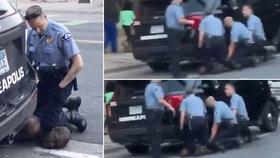 Na umírajícím Floydovi neklečel jeden, ale tři policisté. Tvrdý zákrok ukázalo nové video