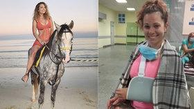 Míša Nosková spadla z koně: Loket měla jinde! Cítila se jako kaskadér