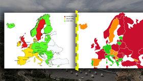 """Češi mohou vyjet po Evropě, ale """"semafor"""" má mouchy. Ne všude vás přijmou, varují experti"""