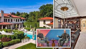 Bratr nejbohatšího muže světa prodává dům: Luxusní sídlo za čtvrt miliardy má i bazén s tobogánem