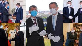Zeman se vykašlal na bílé rukavice při vítání Matoviče v Praze. Babiš je stranou sundal
