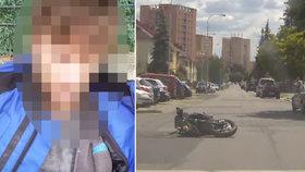 Profrčel kolem policistů na motorce: Po havárii utíkal a snažil se zmizet v zahrádkách